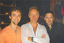 Alex & Avi of Naked Rhythm with Sting